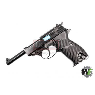 WE P38L GBB Pistol Airsoft ( Black )