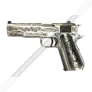 WE Double Barrel 1911 Full Metal GBB Pistol Airsoft ( Classic Floral Pattern )