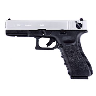 WE Model 1.8C G3 Metal Slide GBB Pistol ( SV ) ( SV Metal Slide, Black Frame )