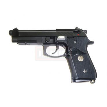 WE M9A1 Full Metal GBB Pistol ( Black ) ( USMC ver. )