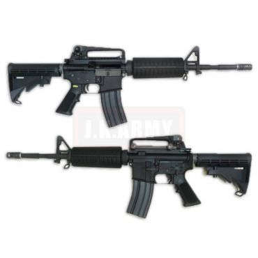 WE M4A1 Gas Blow Back Open Chamber Rifle Black Edition (GBB)
