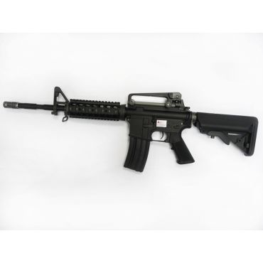 WE Full Metal M4 RIS KATANA Airsoft AEG Rifle ( BK ) ( No Marking )