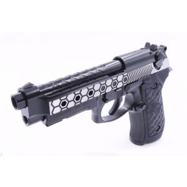WE M9A1 Hex Cut GBB Airsoft Pistol 2 Tone