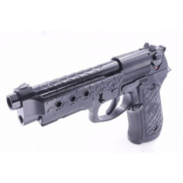 WE M9A1 Hex Cut GBB Airsoft Pistol Black