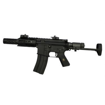 WE RC5 AIR Gas Blow Back Open Chamber Rifle Black Edition ( GBB )