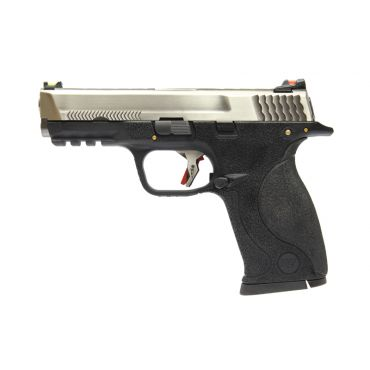 WE BB FORCE T6 A Silver Metal Slide Silver Barrel GBB Pistol ( BK )
