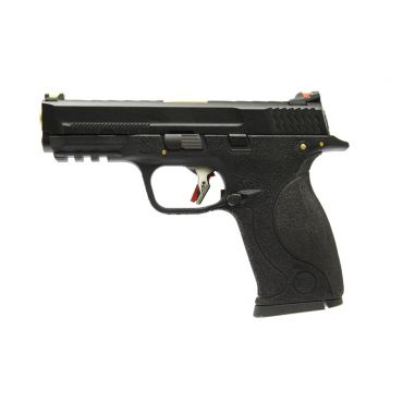 WE Toucan T1 A W/HOLD Pistol Airsoft ( BK SLIDE / GD BARREL / BK FRAME )