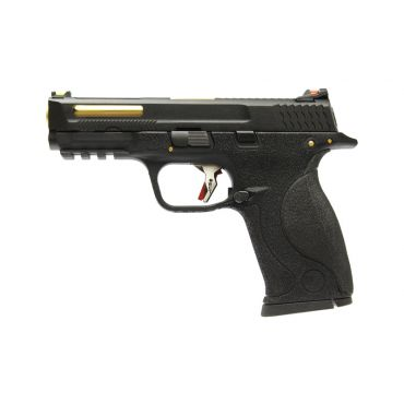 WE Toucan T1 B W/HOLD Pistol Airsoft ( BK SLIDE / GD BARREL / BK FRAME )