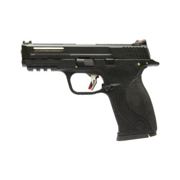WE Toucan T2 B W/HOLD Pistol Airsoft ( BK SLIDE / SV BARREL / BK FRAME )