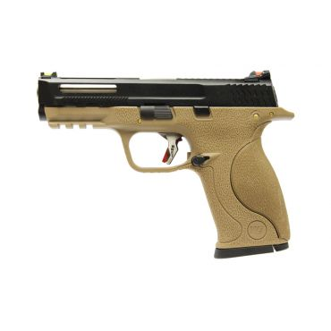 WE Toucan T4 B W/HOLD Pistol Airsoft ( BK SLIDE / SV BARREL / TAN FRAME )