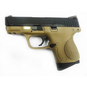 WE Toucan S Metal Slide GBB Pistol ( Tan ) ( BK Slide, Tan Frame )