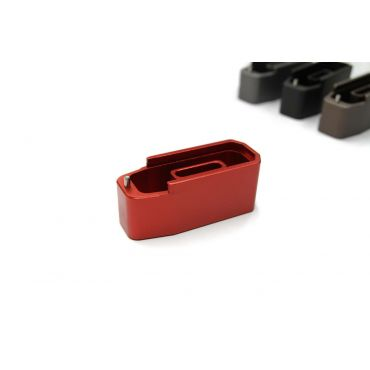 CNC Aluminium Mock - Extension for Polymer Magazine M3 for PTW & GBB ( MWS ) ( Red )