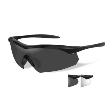 WILEY X Vapor Grey/Clear/Matte Black Frame Shooting Glasses