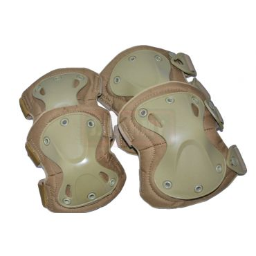 Transformers Style Tactical Knee And Elbow Pads Set ( Tan )